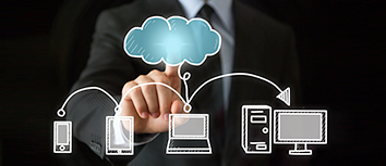 Different devices using cloud