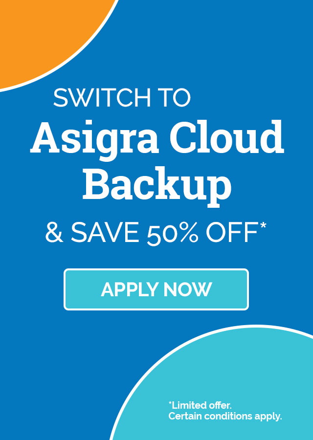Cloud backup promo
