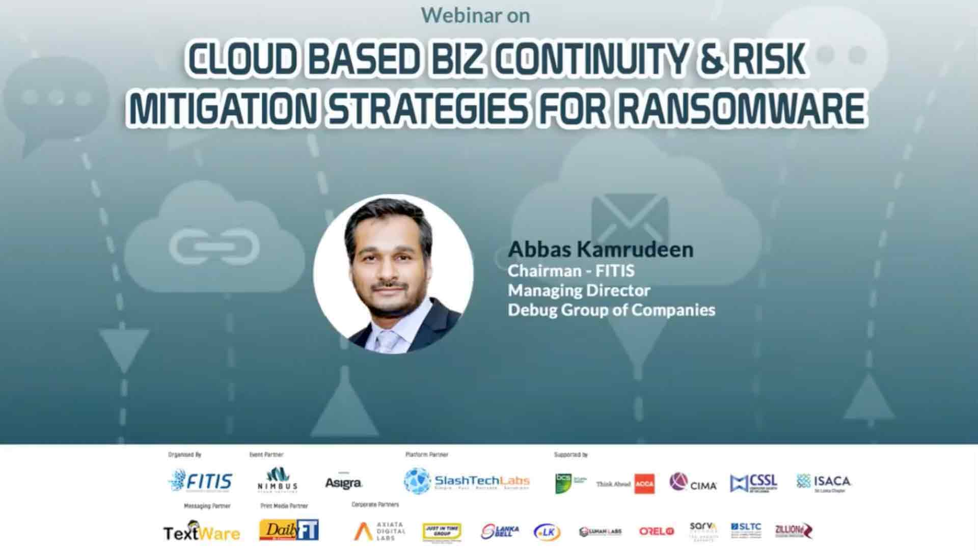 Cloud Based Business Continuity & Risk Mitigation Strategies for Ransomware